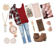 """""""Forever fall"""" by cypressfam ❤ liked on Polyvore featuring Current/Elliott, WearAll, Abercrombie & Fitch, Lucky Brand, Kimberly McDonald, Michael Kors, Allurez, Kendra Scott, MICHAEL Michael Kors and Casetify"""