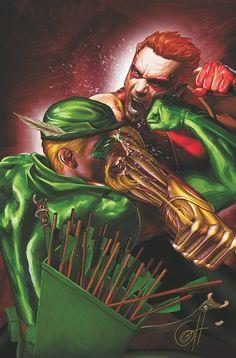 Arsenal vs Green Arrow by Greg Horn