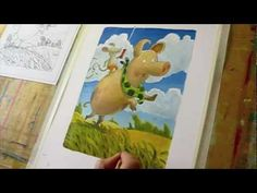 """▶ Time Lapse Illustration for Children's Books - YouTube: The Painting is made with acrylic colors (""""Cryla"""" Daler Rowney) and coloring pencils. Furthermore I use heavy weighted acrylic paper"""