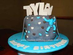 Homemade Rock Climbing Birthday Cake