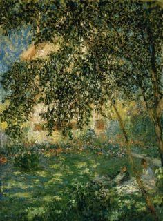 Claude Monet Relaxing In The Garden, Argenteuil