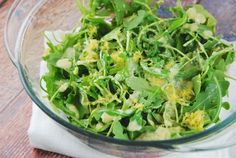 Checkout this simple and delicious Lemon Parmesan Arugula Salad Recipe at LaaLoosh.com! Just 2 Points + for an easy side salad that is incredibly flavorful.