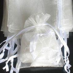 50pcs 17x23cm (6.5x9inch) Solid Cream Ivory Drawstring Organza Gift Bag Pouch Wedding Xmas New Year Birthday Party by AnneJewelryAcc, $12.97