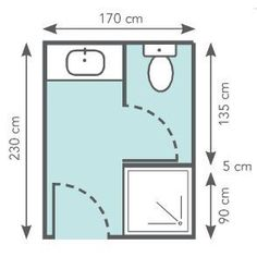 Small Bathroom Design: 34 ideas to copy! Small Bathroom Plans, Bathroom Layout Plans, Small Bathroom Layout, Bathroom Floor Plans, Bathroom Flooring, Wet Room Bathroom, Model House Plan, Garage Remodel, Wet Rooms