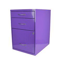Purple File Cabinet