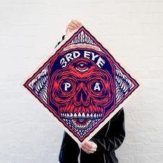 Fiction beer label by Tom J Newell, designed for the 'Artist Beer Visions' Exhibition. - 2 colour screen print – 50cm x 50cm – Somerset Velvet Buff (270gsm)