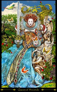reine d'épées (1) - Tarot Illuminati par Erik Dunne