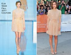 """Keira Knightley In Elie Saab Couture – """"A Dangerous Method"""" Toronto Film Festival"""