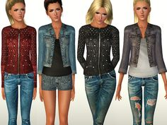 Outdoor jeans and jackets by ShakeProductions - Sims 3 Downloads CC Caboodle