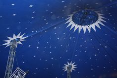 starry circus tent