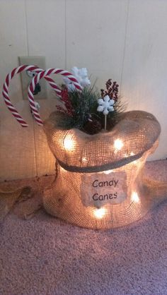 Lighted Burlap Bags My Projects 2013 Pinterest