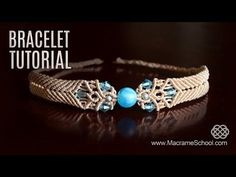 Big Bead Boho Bracelet TUTORIAL by Macrame School (with Chevron stripes/elements). Please watch more Macrame Bracelets with beads in playlist: http://goo.gl...