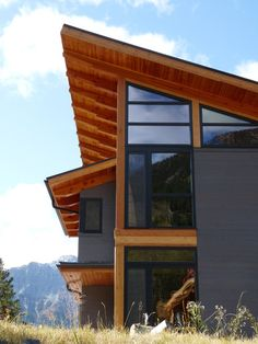mountain retreat contemporary exterior - shed color inspiration