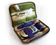 Dittibags are stylish diabetic supply cases designed with vibrant fabrics and color coordinated accessories.