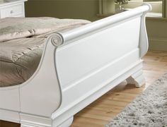 Bordeaux French Style White Wooden Sleigh Bed King Size Frame Only 749 00