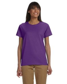 Gildan Ladies Ultra Cotton 100 Cotton TShirt Large Purple ** Want to know more, click on the image. (Note:Amazon affiliate link) #Tshirts