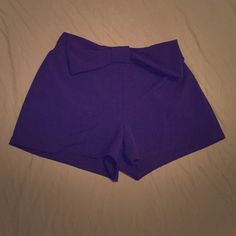 Dark blue bow shorts Dark blue shorts with bow on the waist line Charlotte Russe Other