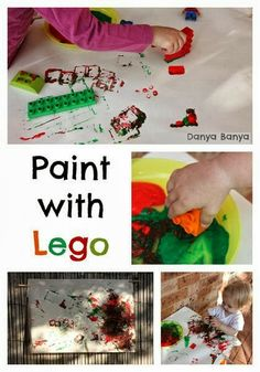 Lego Painting - fun art and play for kids