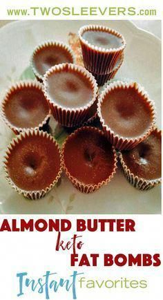 Almond Butter Chocolate Fat almond butter chocolate keto fat bombs cook in less than 5 minutes in your microwave. Chill overnight and enjoy when you're craving some chocolate. Two Sleevers Lemon Fat Bombs, Coconut Fat Bombs, Coconut Oil, Lemon Coconut, Keto Chocolate Fat Bomb, Low Carb Chocolate, Chocolate Fudge, Keto Cookies, Cookies Et Biscuits