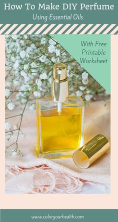 Perfume recipes and directions to help you make perfume with essential oils at home. These DIY fragrance recipes are natural, easy, and fun! Bonus free printable perfume making worksheet and tips on how to make your natural perfume last longer!