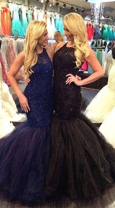 2017 prom dress, mermaid prom dress, long prom dress, black prom dress, mermaid prom dress