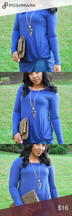 Royal Blue Twist Top We are TWISTEDLY obsessed with this SIMPLE yet so perfect CASUAL top! Not only do we offer it in the PICTURE PERFECT ROYAL BLUE color, but you will also find it in Olive on our site! –And as a University of Kentucky Grad I def needed to add this beauty to my own closet ;) Stone Pony Boutique Tops