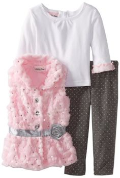 Little Lass Baby-Girls Infant 3 Piece Satin Rosette Faux Fur Vest Set, Pink, 12 Months Little Lass,http://www.amazon.com/dp/B00D6CAZFY/ref=cm_sw_r_pi_dp_ECLGsb1E0EXQK3V0