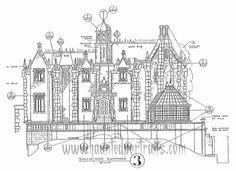 Walt Disney's HM blueprints and more! Disney Magic, Disney Art, Walt Disney, Dream Mansion, Disney Rides, Disney Concept Art, Disney Scrapbook, Haunted Mansion, Vintage Disney