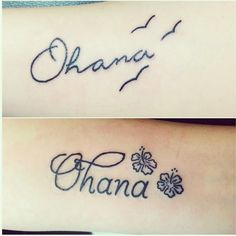Ohana tattoos ohana tattoo tattoos disney lilo stitch sisters family