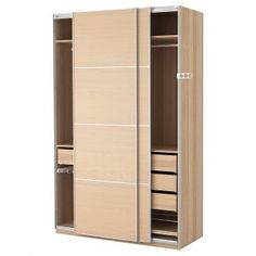 Terrific Sliding Door Cabinet With 3 Drawers Inside And Rail Cloth Hanger As Inspiring Wardrobe Closet Organizers Ikea Cabinets Designs Ikea Pax Wardrobe, Wardrobe Furniture, Wardrobe Cabinets, Ikea Cabinets, Wardrobe Closet, Closet Bedroom, Cupboards, Ikea Closet Organizer, Bedroom Decor