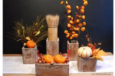 Simple, inexpensive barnwood boxes to build from cedar fencing. Cool thing -- fill with whatever's seasonal and leave up all year long. Chalkboard Blue, posting at Simply Kierste, has the tutorial.