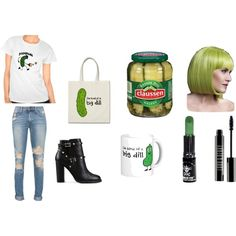 pickles by spirtgirl13 on Polyvore featuring Valentino, Lord & Berry and Manic Panic