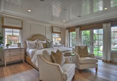 pretty coastal bedrooms | in Las Vegas, Nevada, designed this warm and welcoming master bedroom ...