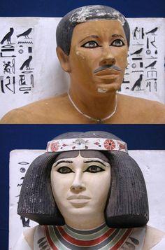 Данные статуи изображают Принца Рамхотепа и его жену Нофрет (2600-2575 гг. до н.э.)