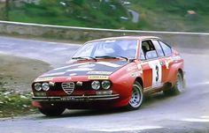 Jean-Claude Andruet/Yves Jouanny, 1975 Tour de Corse, Group 2 Alfa Romeo Alfetta GT. Finished 3rd. 2 SS wins.