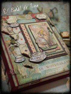 Up Book, Book Art, Alice In Wonderland Crafts, Junk Journal, Mini Scrapbook Albums, Book Projects, Handmade Books, Graphic 45, Bookbinding