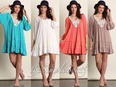 f5967eb9c69 New UMGEE Ruffled Lace Crochet Trapeze Shift Tunic Top Mini Dress Plus Size   UMGEE