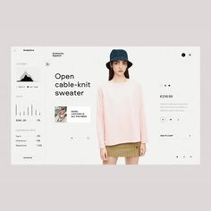 eCommerce Analytics by . Web Design Inspiration, Cable Knit Sweaters, Cool Lighting, Ecommerce, Branding, Layout, Journal, Instagram, Color