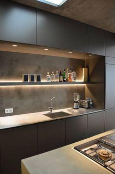 Kitchen Room Design, Kitchen Cabinet Design, Kitchen Sets, Modern Kitchen Design, Interior Design Kitchen, New Kitchen, Kitchen Decor, Interior Ideas, Interior Inspiration