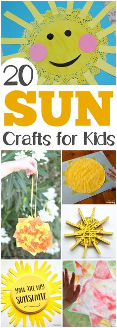 20 Fun and Easy Sun Crafts for Kids is part of Welcome Summer crafts - These easy sun crafts are so fun for summer arts and crafts with the kids! Choose a few to make over the summer together! Summer Crafts For Toddlers, Summer Arts And Crafts, Summer Activities For Kids, Crafts For Kids To Make, Diy Arts And Crafts, Spring Crafts, Toddler Crafts, Camping Activities, Kids Crafts