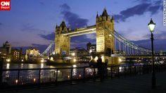 London's Tower Bridge glows at twilight. Vanessa Reyes shot this photo just before havi...