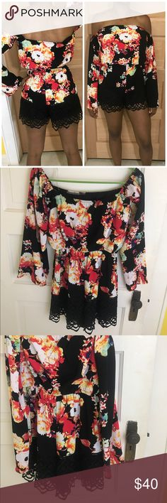 New! Long Sleeve Floral Romper New flare sleeve floral romper 😍🌹🌺 Material Girl Pants Jumpsuits & Rompers