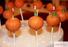 Halloween Pumpkin Cake Pops & Googly, Spooky Mummies Cake Pops   niner bakes