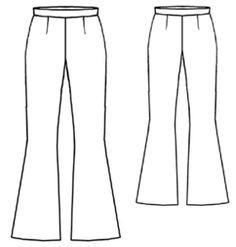 How to Make Flared Pants - Free Garment Draft (no certain yardage