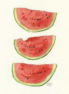 water colour watermellon