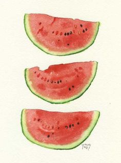 water colour watermellon