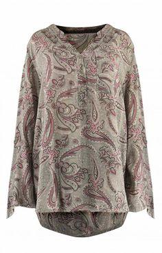 Γυναικεία εμπριμέ πουκαμίσα  Μπλούζες και πουκάμισα Tunic Tops, Blouse, Long Sleeve, Sleeves, Women, Fashion, Moda, Long Dress Patterns, Fashion Styles