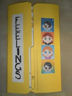 Cute lap book idea to teach feelings! Feelings Activities, Counseling Activities, Therapy Activities, Work Activities, Play Therapy, Therapy Ideas, Social Emotional Learning, Social Skills, School Social Work
