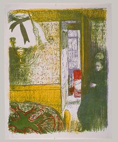 Interior with a Hanging Lamp. 1899. Edouard Vuillard. The Nabis and Decorative Painting | Thematic Essay | Heilbrunn Timeline of Art History | The Metropolitan Museum of Art