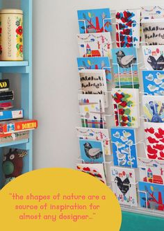 Kid's Library Gallery -  Teal shelving and bookshelf idea to organize board games and other knick knacks.  Issue 7 by 91 Magazine